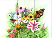 Butterfly Meadow    - Tile Mural