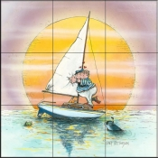 GP-The Boat Lover  - Tile Mural