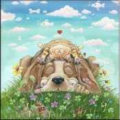 GP- Lazy Day Afternoon - Dog - Accent Tile