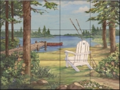 PB-Lakeside I  - Tile Mural
