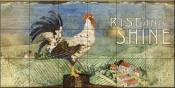 PB-Rooster Signs I  - Tile Mural
