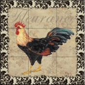 PB-Bergerac Rooster XII  - Tile Mural
