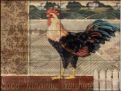PB-Good Morning Rooster  - Tile Mural