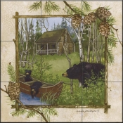 AP-Log Cabin  - Tile Mural