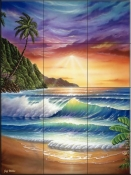 Colors of Paradise-JW - Tile Mural