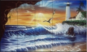 Enchanted Lighthouse-JW - Tile Mural