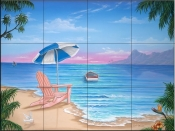 Exotic Beach-JW - Tile Mural