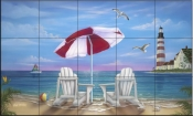 Exotic Lighthouse-JW - Tile Mural