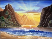 Mountain Sunrise-JW - Tile Mural