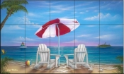 Exotic Vacation-JW - Tile Mural