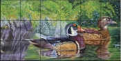 Bayou Wood Ducks-CC - Tile Mural