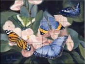 Colorful Butterflies-LB - Tile Mural