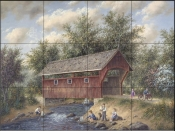 Boating Near Delafield-DL - Tile Mural