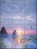 Radiant Seashore-KR - Tile Mural