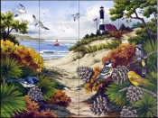 A Walk Through The Dunes-NW - Tile Mural