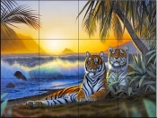 Tropical Tigers-CH - Tile Mural