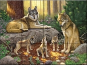 A Family of Wolves-CH - Tile Mural