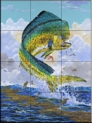 Mahi Hook Up-CC - Tile Mural