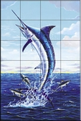 Marlin Leap-CC - Tile Mural