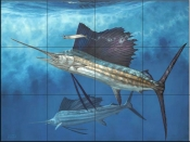 Circling The Bait-DR - Tile Mural