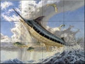 Fly Fish-DR - Tile Mural