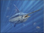 Out of the Blue-DR - Tile Mural