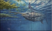 Prowling Marlin-DR - Tile Mural