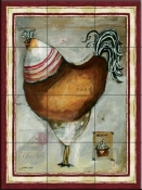 French Rooster IV-JG - Tile Mural