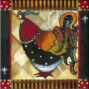 Tuscan Rooster IV - JG - Accent Tile
