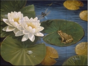 Frog and Lilly Pad I-BM - Tile Mural
