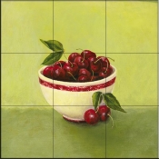 Bowl of Cherries-Y - Tile Mural