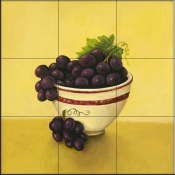 Bowl of Grapes-Y - Tile Mural