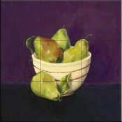 Bowl of Pears-Y - Tile Mural