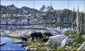 Black Bear-JT - Tile Mural