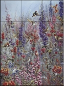Garden Jewels-TA - Tile Mural