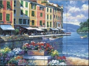 Reflections of Portofino-JZ - Tile Mural