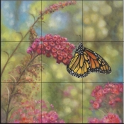 Monarch Butterfly-JZ - Tile Mural