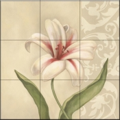 Cream Lily-DL - Tile Mural