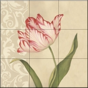 Cream Tulip-DL - Tile Mural