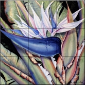 Giant Bird of Paradise    - Tile Mural