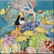 Imperial Angel Fish - Tile Mural