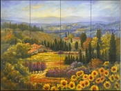 Tuscan Countryside-RK - Tile Mural