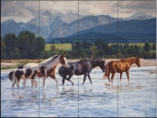 Summer In The Valley-CG - Tile Mural
