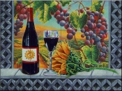 View of the Vineyard-FH - Tile Mural