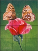 Sharing a Rose-FS - Tile Mural