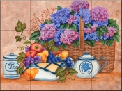 Tea Time-MT - Tile Mural