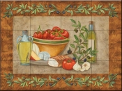 Tuscany Treats I-MT - Tile Mural