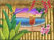 Tropical Bliss-MT - Tile Mural