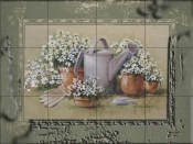 Gardens Edge with Border-RB - Tile Mural