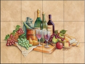 Wine Time-RB - Tile Mural